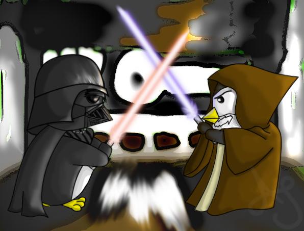 Vader vs. Kenobi by Akei-Tyrian