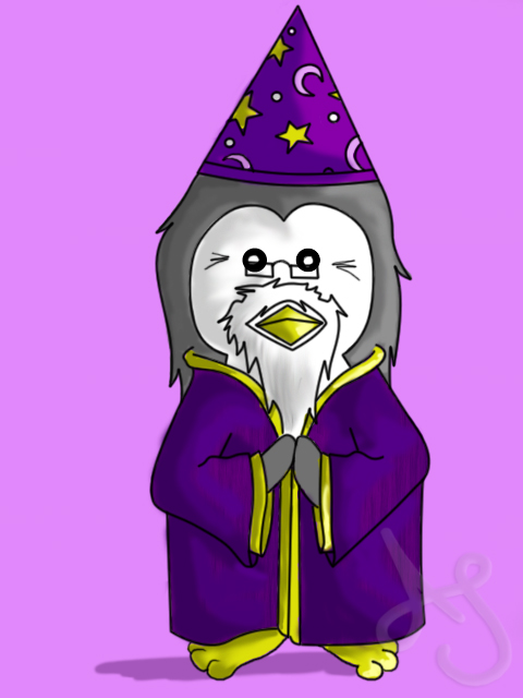 HP Penguins- Dumbledore by Akei-Tyrian