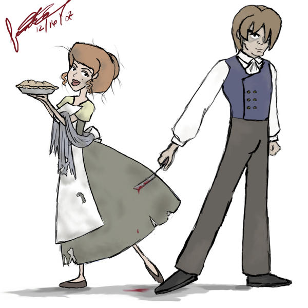 Sweeney Todd and Mrs. Lovett by Akei-Tyrian