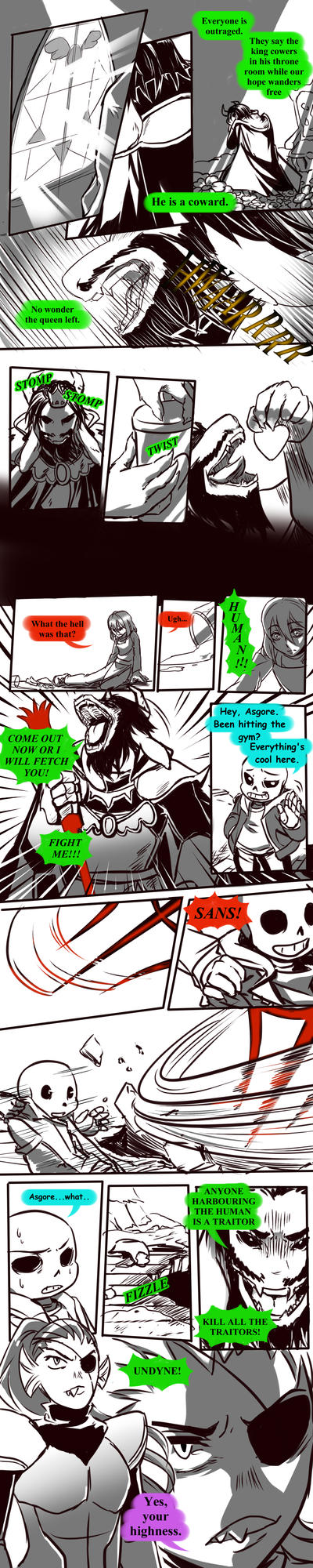 Failed Genocide! Undertale Gauntlet Throne Pt 2 by Dark-Merchant