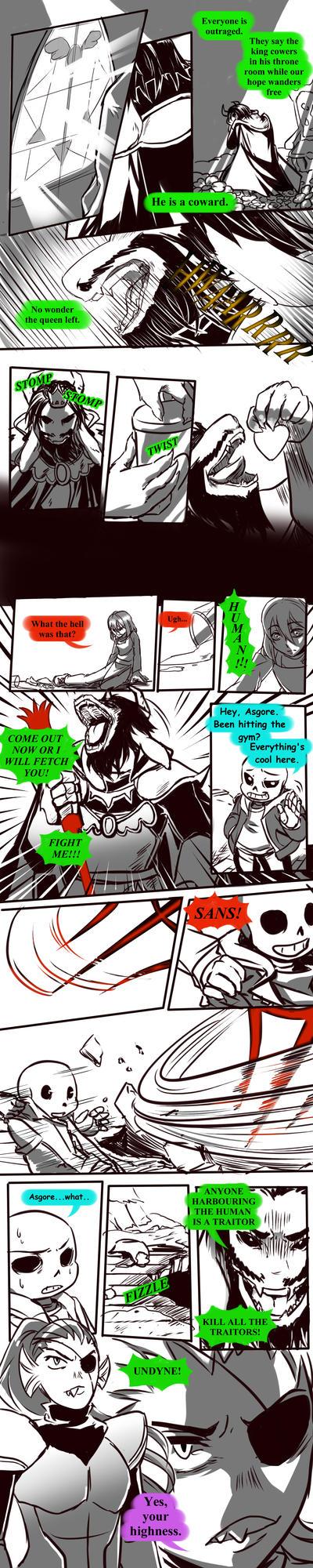 Failed Genocide! Undertale Gauntlet Throne Pt 2 by KuraiDraws