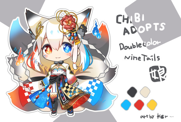 [OPEN] Nine Tails musume Adopts #01 (1/1) by kgrnet