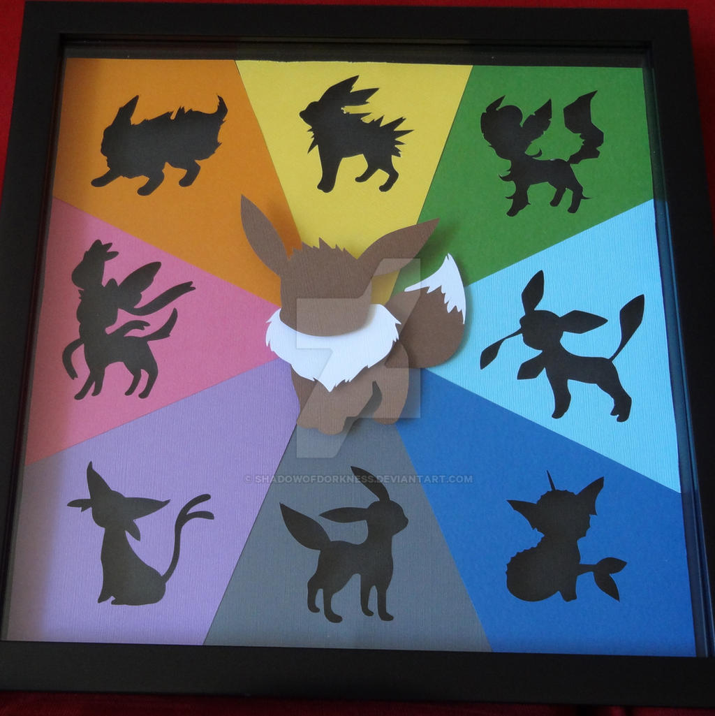 Eevee Evolution Shadow Box By Shadowofdorkness On Deviantart