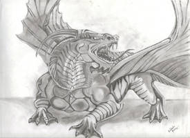 Dragon Drawing finished -- old by KankurouOfTheSand