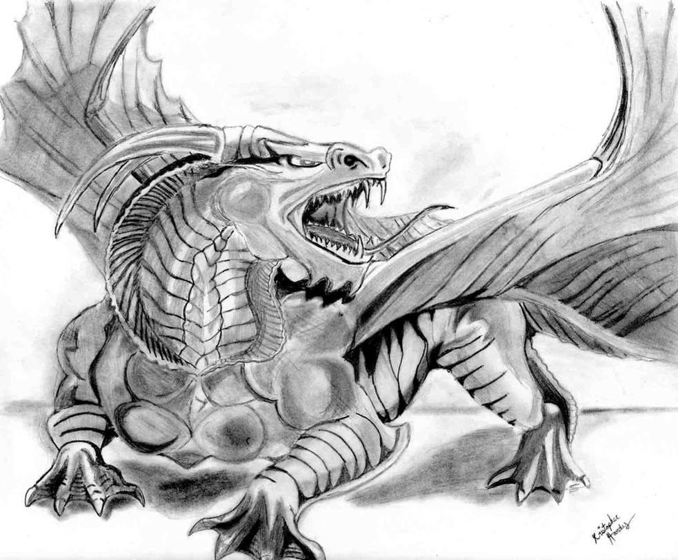 Dragon drawing by KankurouOfTheSand