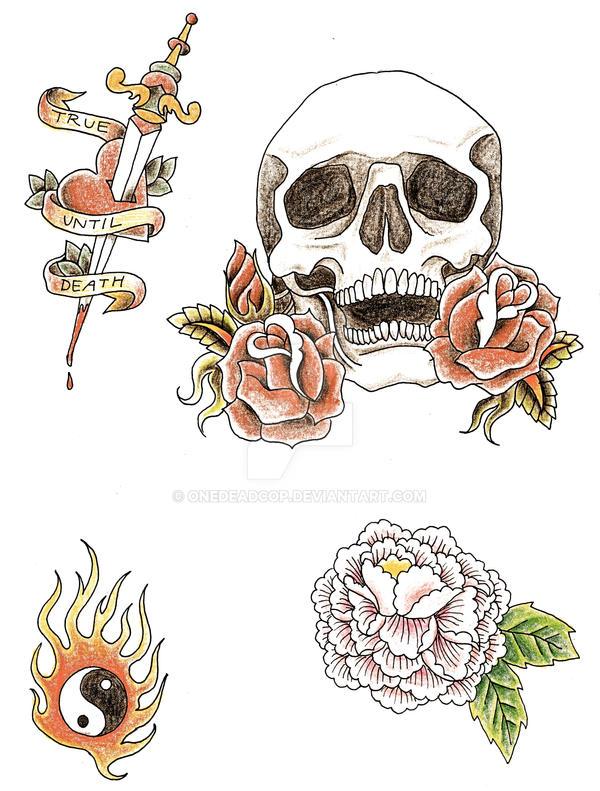 tattoo designs by onedeadcop on deviantart. Black Bedroom Furniture Sets. Home Design Ideas
