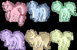 Teeny rainbow pony adopts -open-