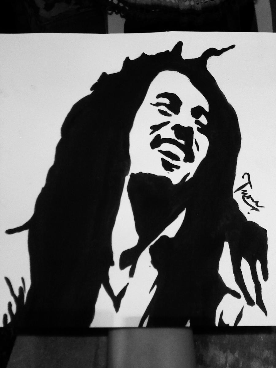 Bob Marley Stencil Cak...