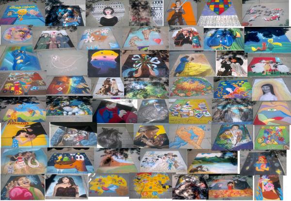 Chalk festival art- Collage by samuraivalerie