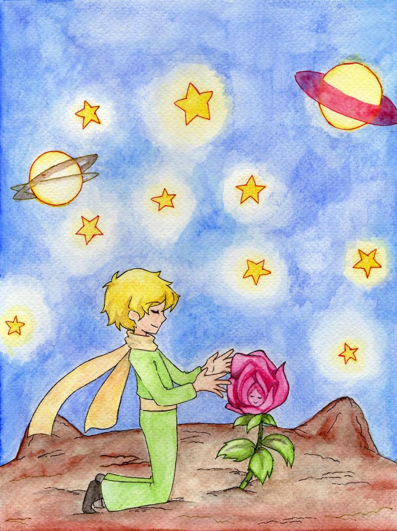 El principito y su rosa... by lebasilig