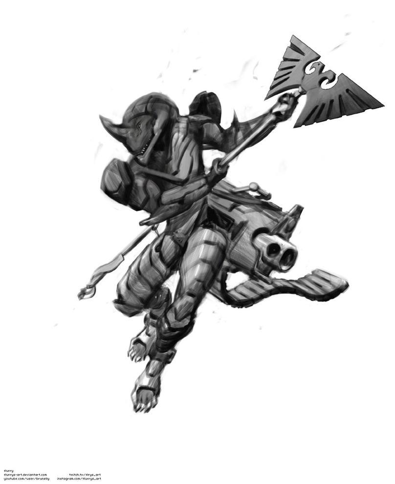 Tarellian Dog Soldier by flurrys-art