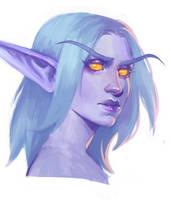 Night elf druid OC by AntheiaVaulor