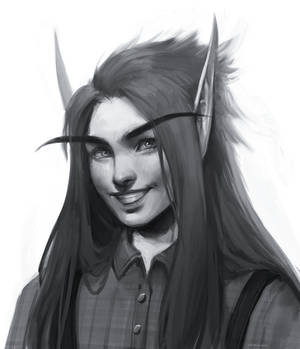 Dreelan sketch headshot commission by AntheiaVaulor