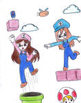 Sweet and Bitter Mario Bros by rainbowrussia
