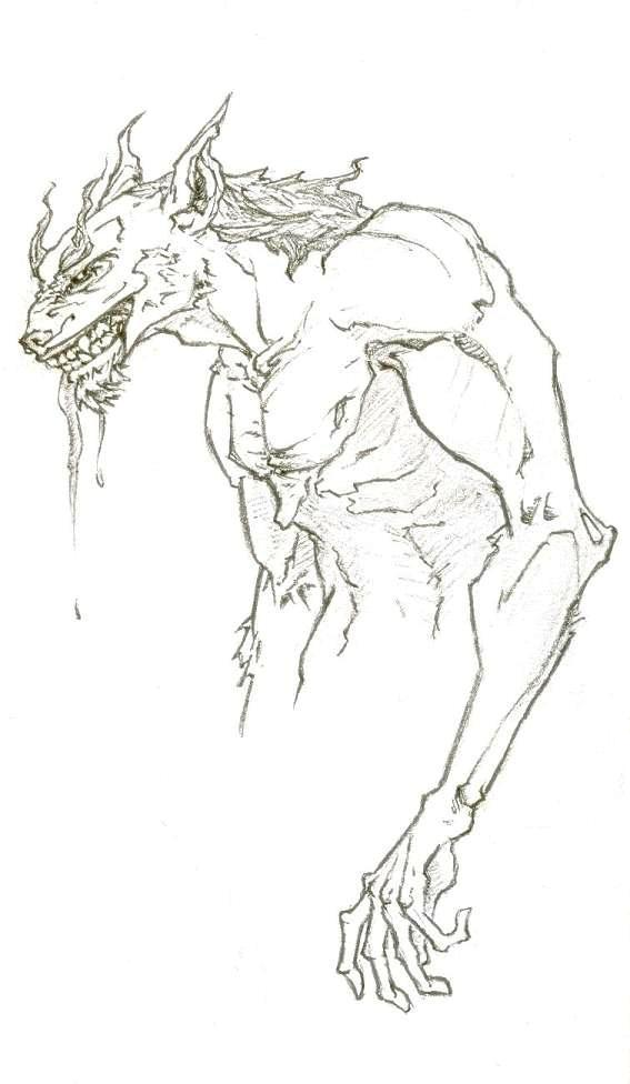 Beowulf | They read happily ever after |Beowulf Fighting Grendel Drawing