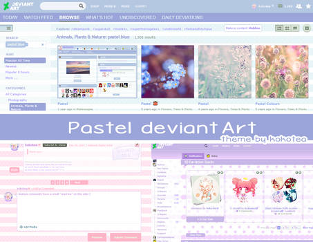 Pastel deviantArt theme 3.0 (DOWN) by kokotea