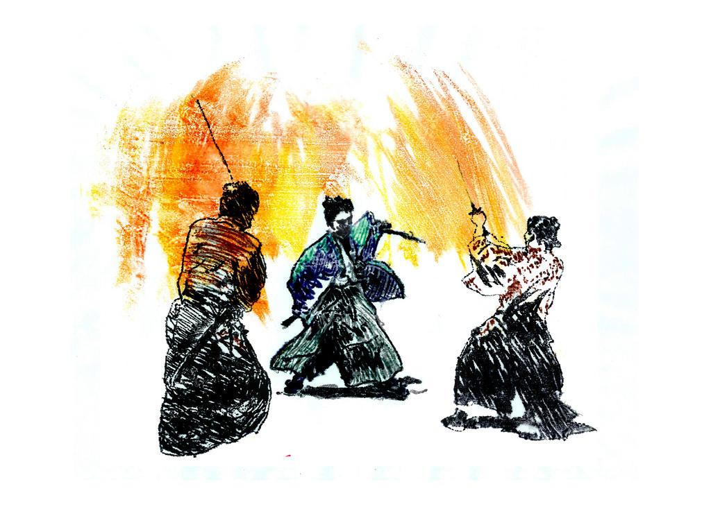 Samurai Fight by VictorDrake