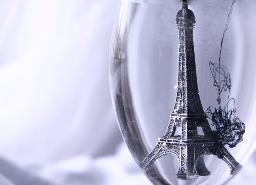 Ink Rain in Paris by asia1573