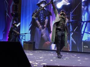 Hunters on stage