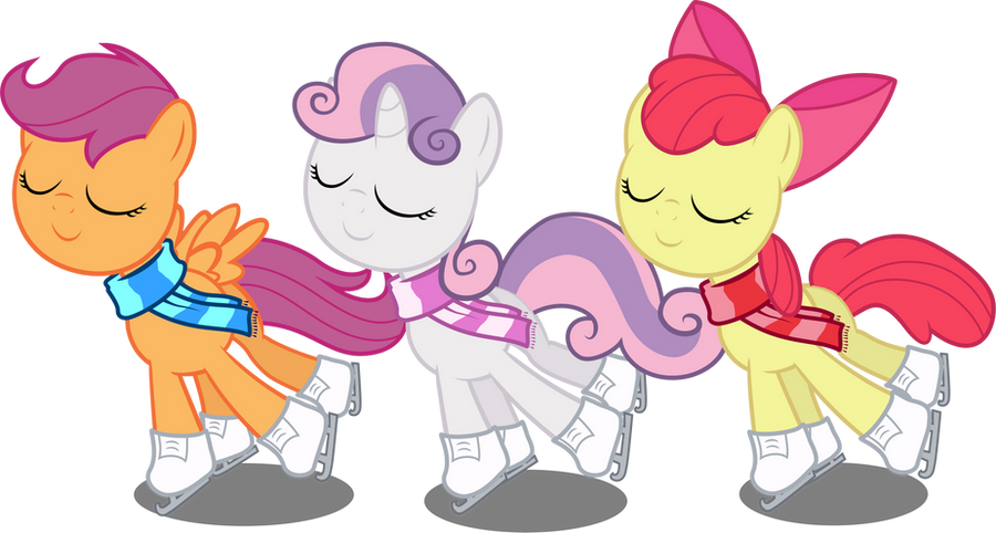 Cutie Mark Crusaders - Figure Skaters by Abion47