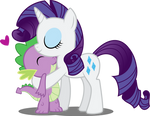Spike and Rarity by Abion47