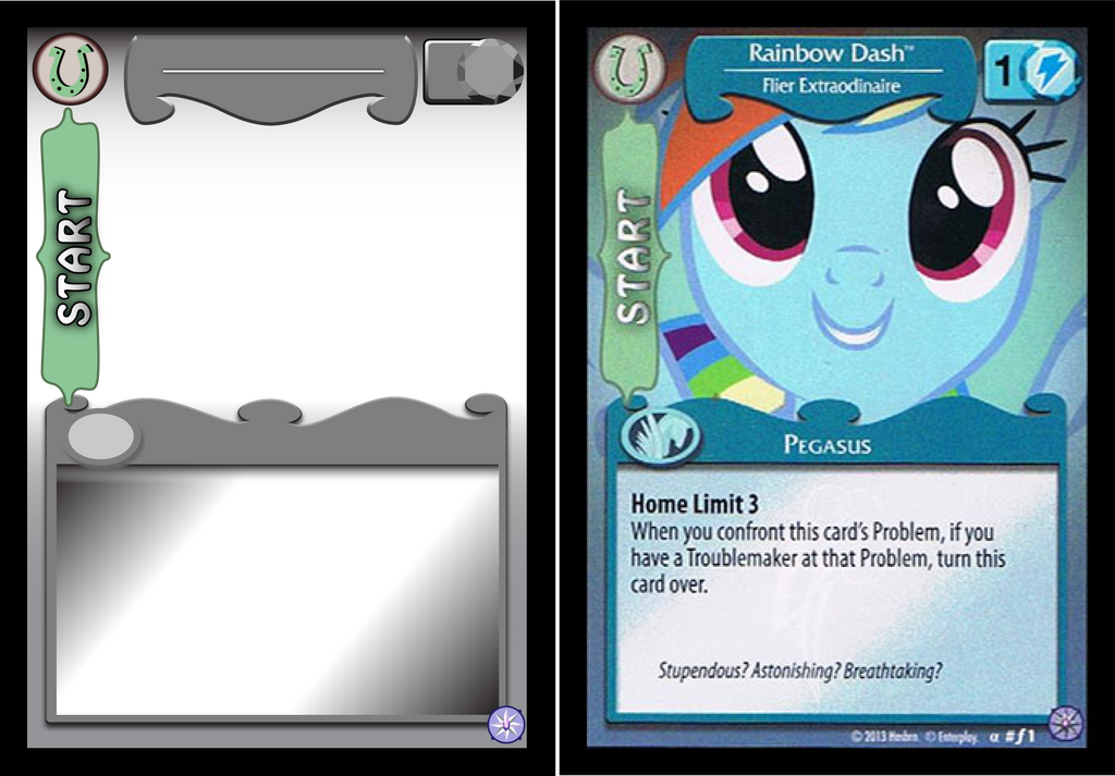 Mlp tcg card template mane front by abion47 on deviantart for Card game template maker