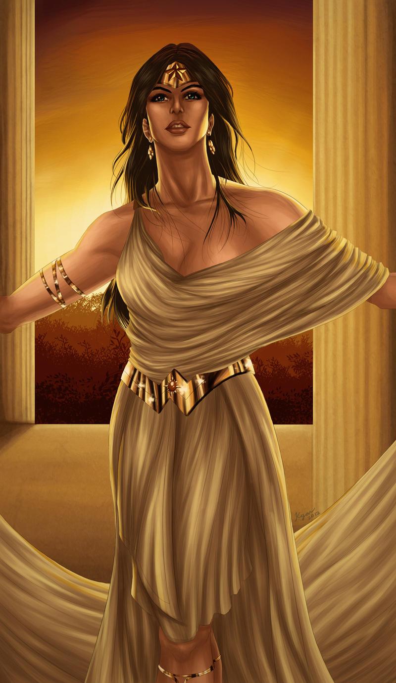Wonder Woman -Amazonian Goddess- by KGanArt
