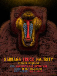 Garbage Truck Majesty - Gig Poster