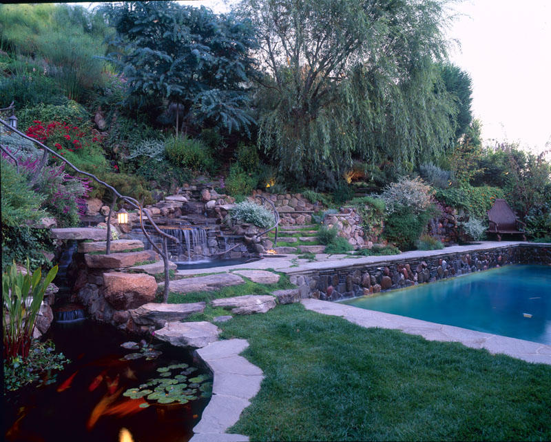 Overton pool and koi pond by lasmn on deviantart for Koi pond next to pool