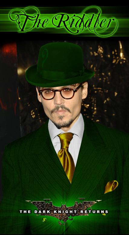 Johnny Depp as The Riddler by Imaginashawn on DeviantArt  Leonardo Dicaprio Riddler