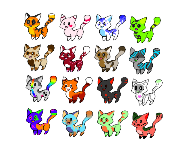 Kitty adoptables by BottledRainbowz