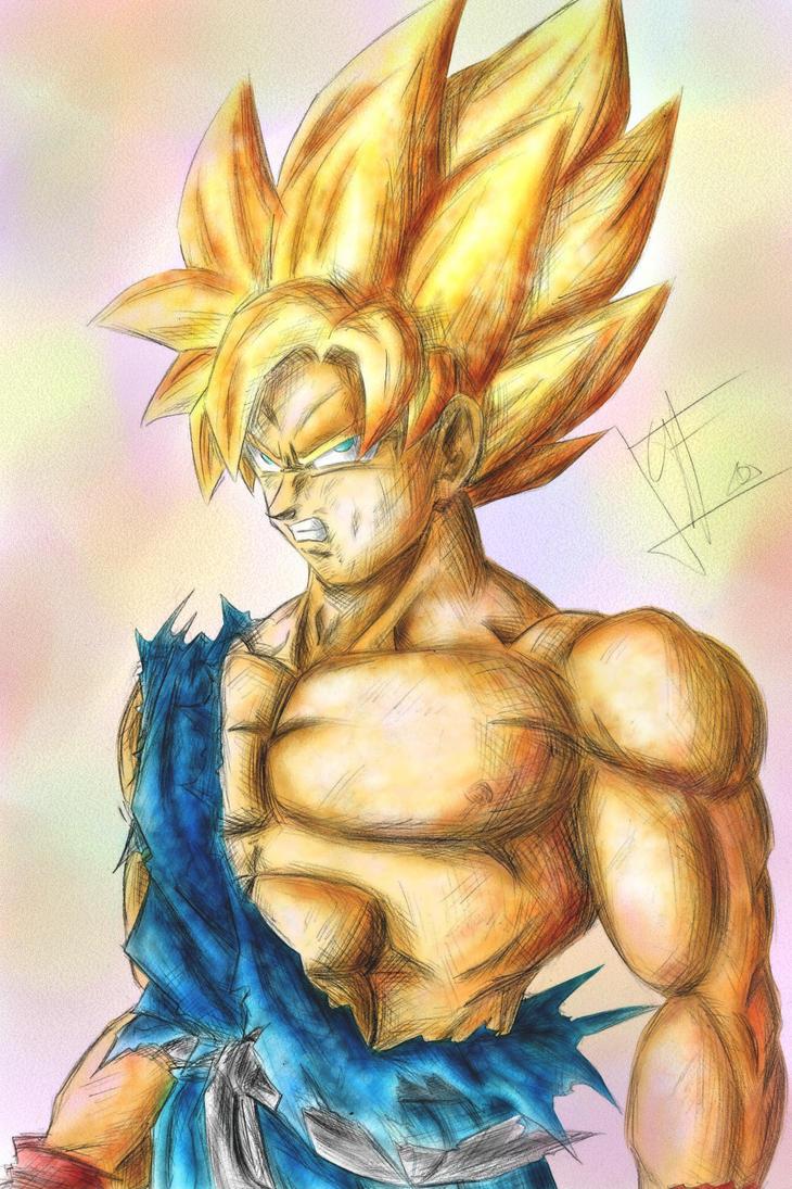 Reborn Goku Ssj by Trunks777