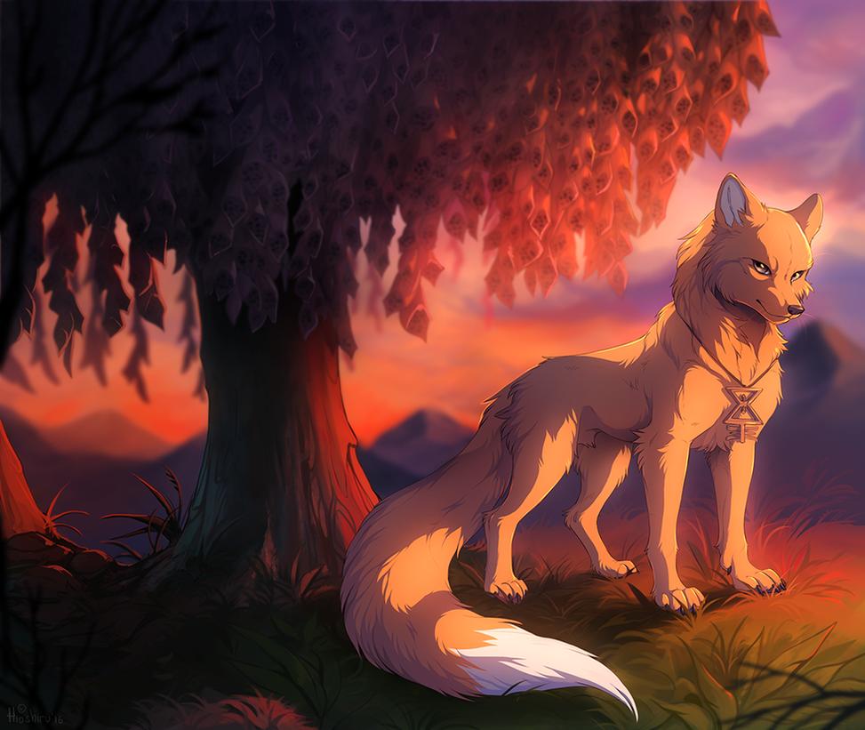 Fiery sunset by hioshiru-alter