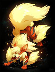 Red arcanine by hioshiru-alter