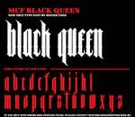 MCF_Black_Queen font