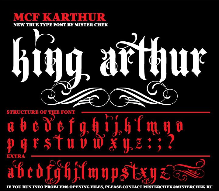 Mcf Karthur Font By Misterchek
