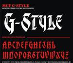 MCF_G_style font