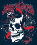 Amatory skull and snakes