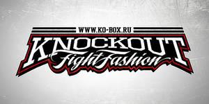 Knockout fight fashion logo
