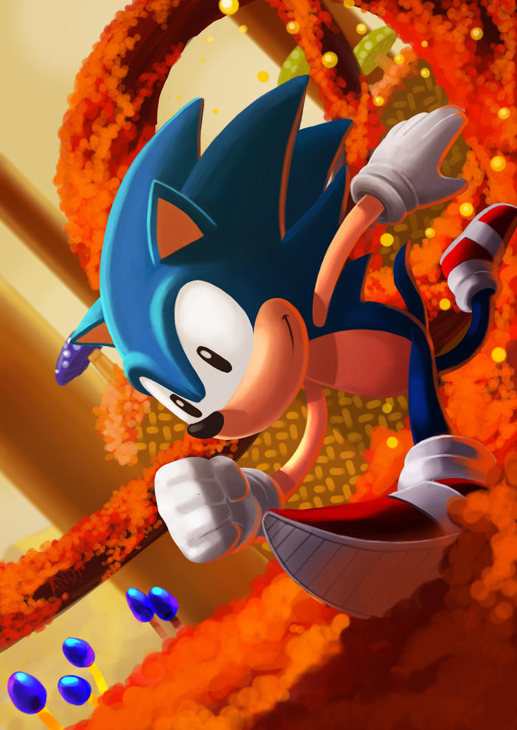 Sonic the hedgehog by fenrir2512
