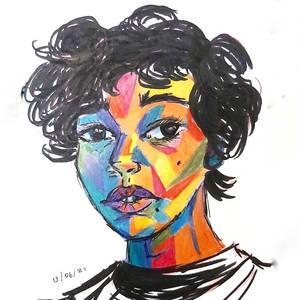 Colored Portrait Study