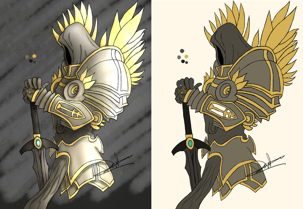 Tyrael [Shading Comparison] by Gamble55