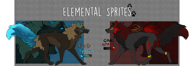 |Adoptables I Elemental Sprites (CLOSED)