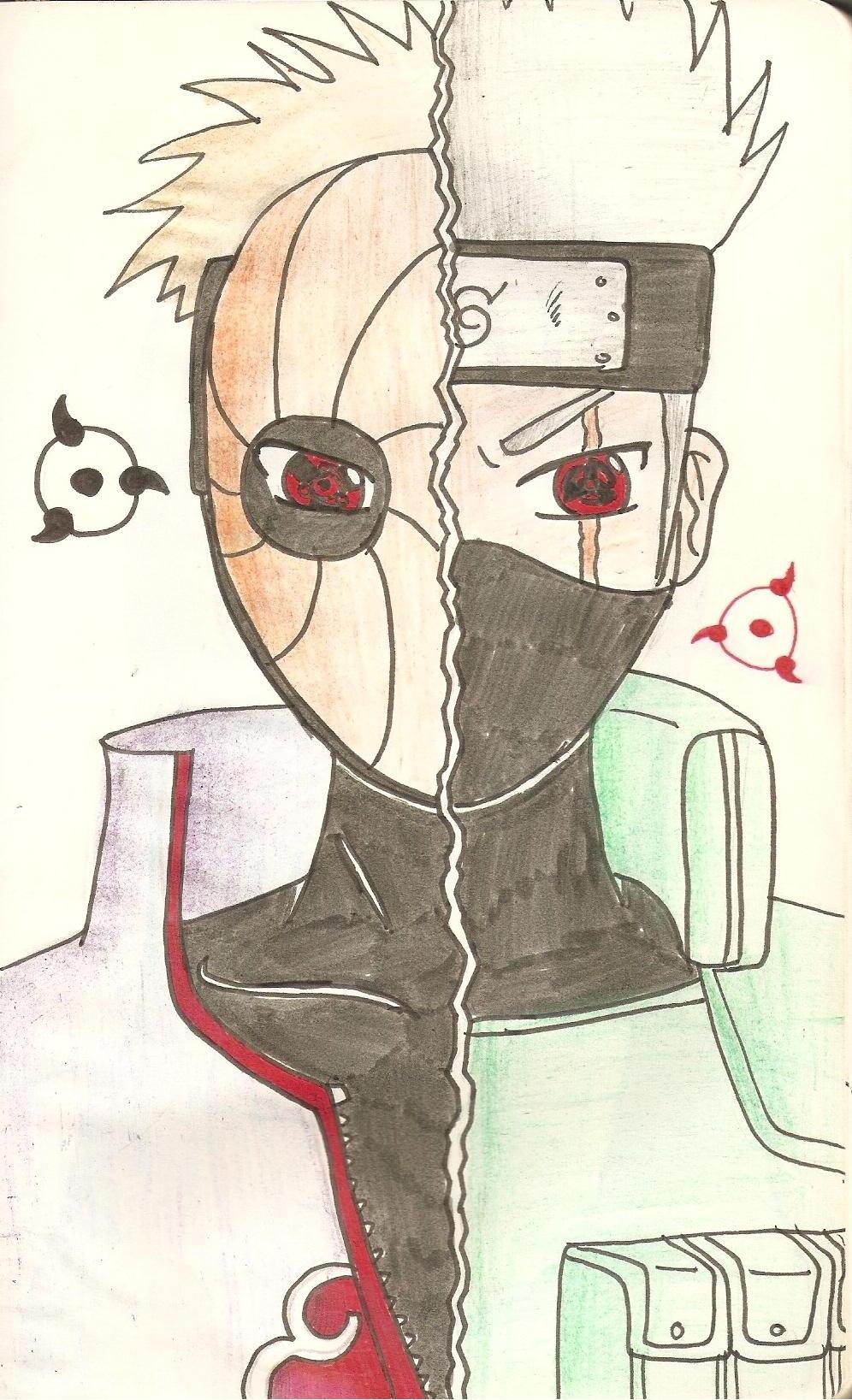 Dibujo de Naruto  Madara Uchica y Kakashi Hatake by Miguel