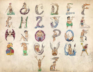 Philippine Mythology Alphabet Set by binibinieyebagsToTZ