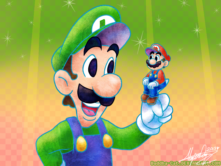 That's MEGA Luigi To You, Mario by Buddha-Cat