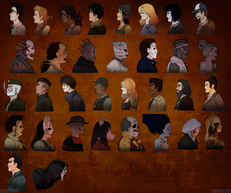 Dead By Daylight Custom UI Icons Colour by Buddha-Cat on DeviantArt