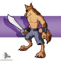 Wolf Sentry (Sword) by FreezingIceKirby