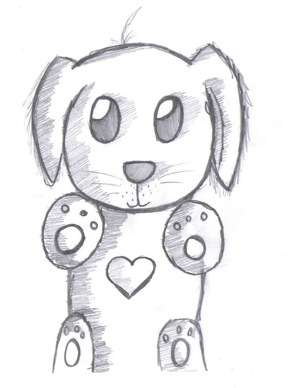 Cute dog drawings - photo#7