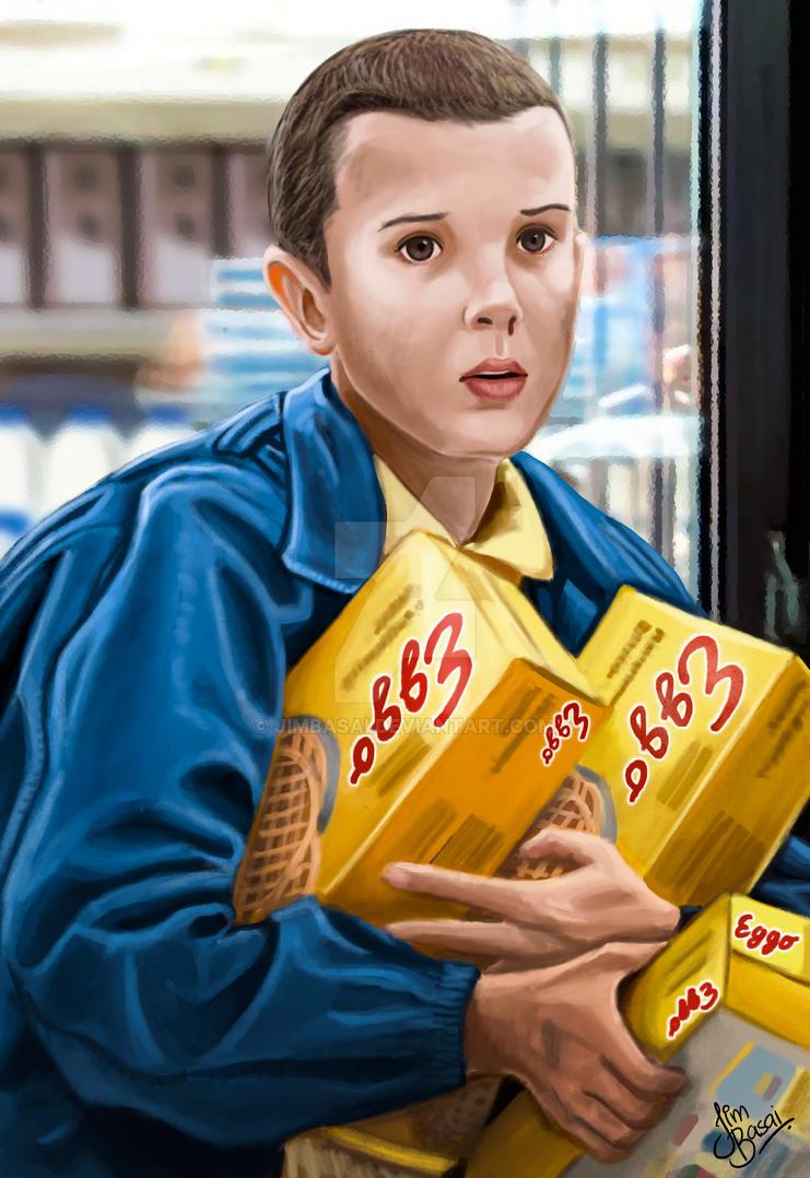 Eleven (Stranger Things) by JimBasai
